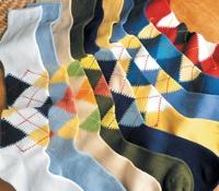 Argyle Socks in Sea Island Cotton