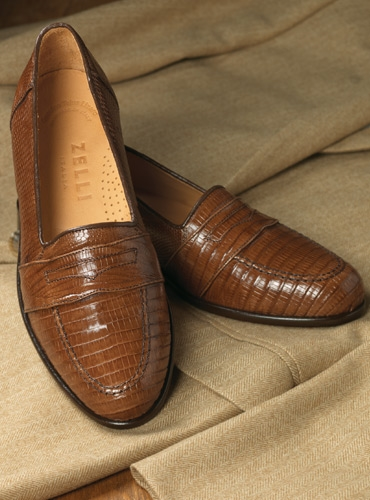 The Lizard Loafer in Cognac