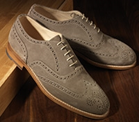 The Fayetteville Oxford in Tan Suede
