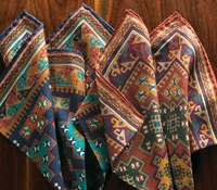 Wool and Silk Motif Printed Pocket Squares