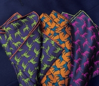 Silk Sporting Dog Pocket Squares