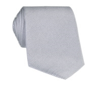 Silk Basketweave Solid Tie in Cloud