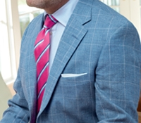 Regal Blue Sport Coat with White Windowpane
