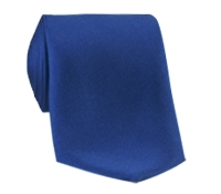 Silk Solid Tie in Navy