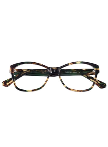 Slim Butterfly Style Frame in Tortoise with Emerald