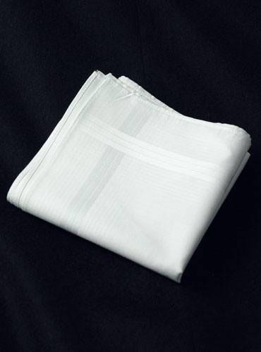 White Cotton Pocket Squares 3 pack
