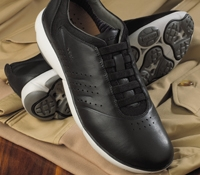 The Geox Leather Sneaker in Black
