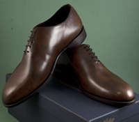 The Nettleton Whole Cut Oxford in Brown Museum Leather