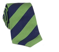 Lime and Navy Block Stripe Woven Tie
