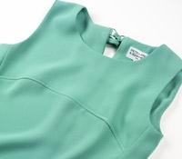 Ladies Sleeveless Crepe Dress in Turquoise