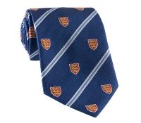 Silk Woven Crest Tie in Navy