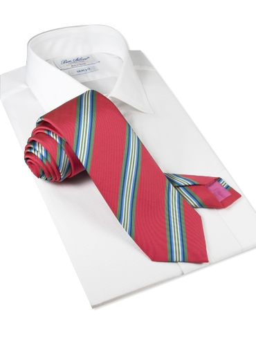 Mogador Striped Tie in Rouge
