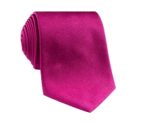 Silk Solid Signature Tie in Magenta