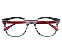 Multi-Colored Handmade Frame in Black, Grey, White and REd