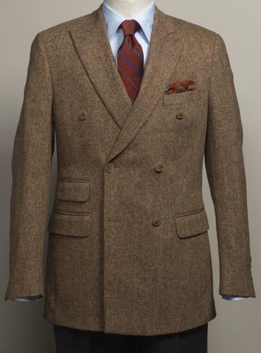 Wool Cream and Chocolate Glen Plaid Jacket