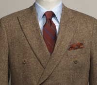 Wool Cream and Chocolate Glen Plaid Jacket