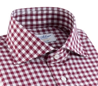 Wine Gingham Cutaway