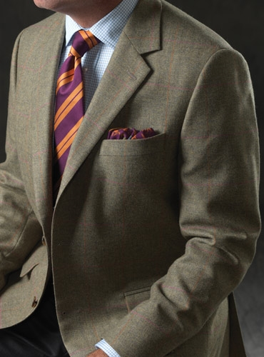 Sage Broken Bone Sport Coat In Wool And Cashmere With