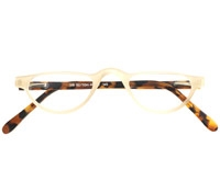 Silver Line Half Moon Reader in Bone and Light Tortoise