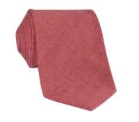 Shantung Silk Solid Tie in Hibiscus