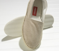 Ecru Canvas Espadrilles with Rubber Soles