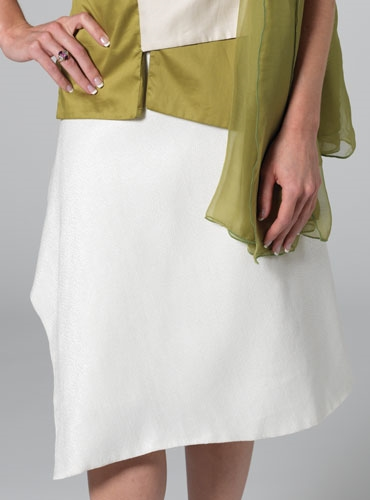 Marie Meunier Silk and Cotton blend Croisée Skirt