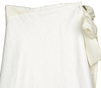 Marie Meunier Silk and Cotton blend Croisée Skirt