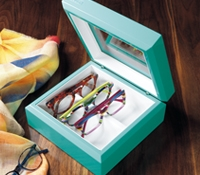 Smaller Eyewear Chest in Aqua