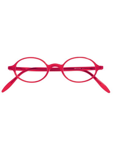 Silver Line Oval Frame in Red