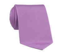Woven Silk Solid Tie in Lavender