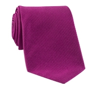 Mogador Silk Solid Signature Tie in Magenta