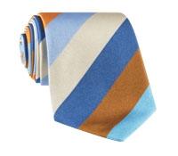 Silk Woven Multi-Stripe Tie in Aqua