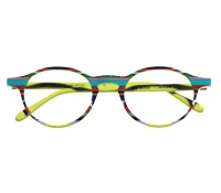 Multi-Colored Handmade Frame in Lime and Aqua