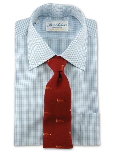 Wool/Silk Fox Tie in Red