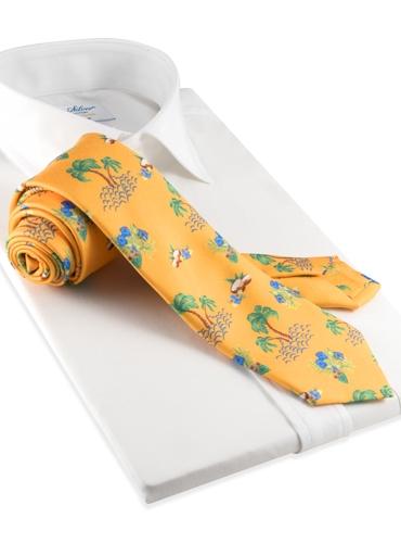 Silk Print Luau Tie in Sun
