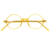 Rich Yellow English Round Frame