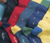 Golf Motif Socks