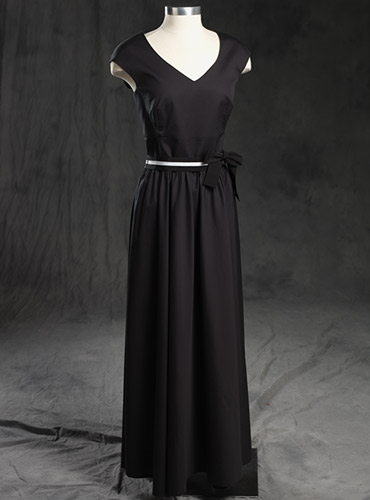 Ladies Cotton Maxi Dress Black