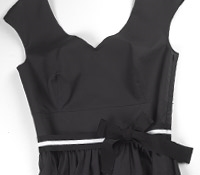 Ladies Cotton Maxi Dress Black