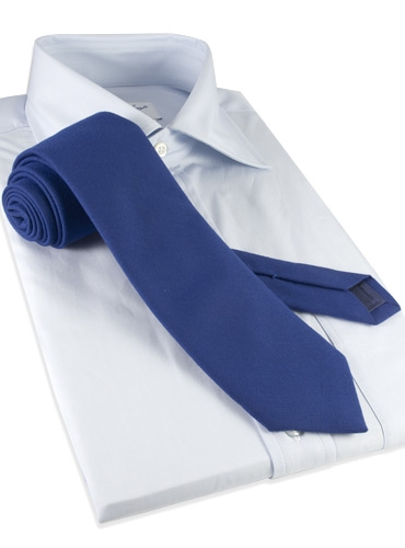 Silk and Wool Solid Tie in Royal