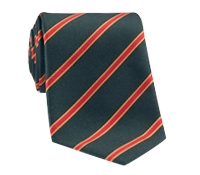 Silk Stripe Tie in Bottle and Chilli