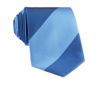 Silk Block Stripe Tie in Sky and Denim