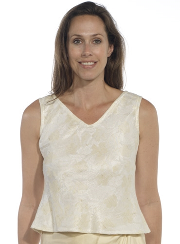 Marie Meunier Silk Cream Blouse