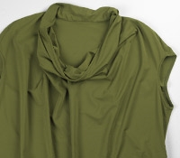 Marie Meunier Jersey Cap-sleeve Blouse in Green