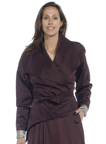 Marie Meunier Wrap Jacket in Purple