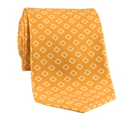 Silk Diamond Motif Tie in Marigold