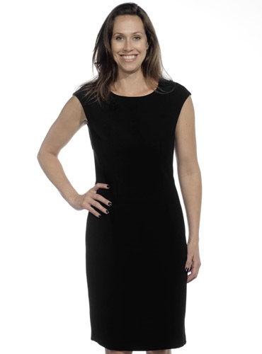 Ladies Cap Sleeve Dress in Black