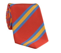 Mogador Silk Stripe Tie in Chili