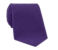 Mogador Silk Solid Signature Tie in Violet