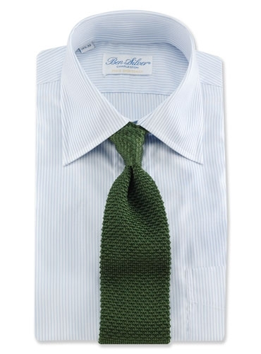 Classic Silk Knit Tie in Olive